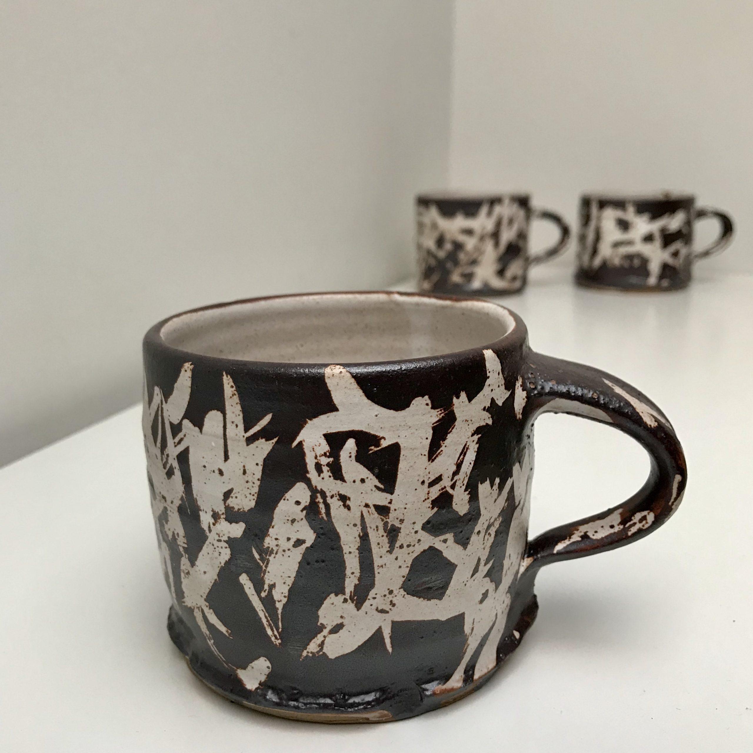 Contemporary stoneware ceramic bramble cups
